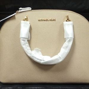 Michael Kors Bisque 'Emmy' Dome Leather Satchel